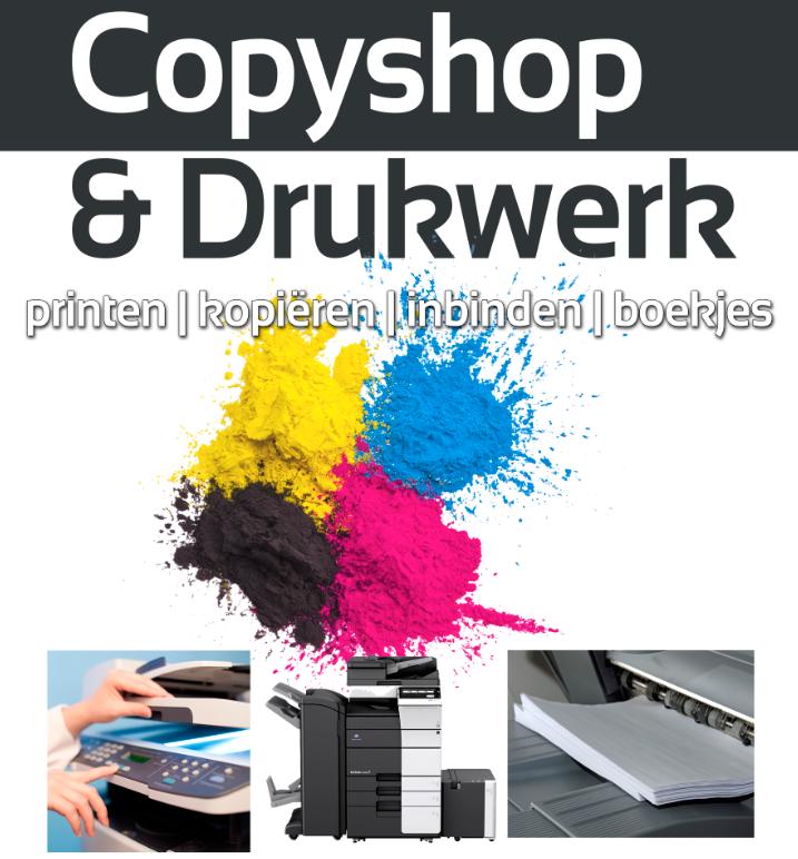 copyshop en drukwerk printen kopieren inbinden boekjes lamineren