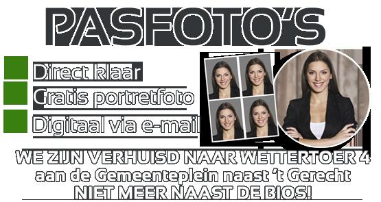 Officiële pasfoto + leuke portretfoto + Digitaal